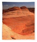 Ufo In Coyote Buttes Fleece Blanket