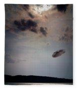 Ufo Over Lake Superior Fleece Blanket