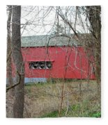 Uhlerstown Covered Bridge Fleece Blanket