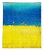 Ukraine Flag Fleece Blanket