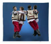 Ukrainian Dancers Fleece Blanket
