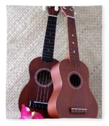 Ukulele Duet Fleece Blanket