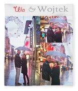 Ula And Wojtek Engagement 2 Fleece Blanket