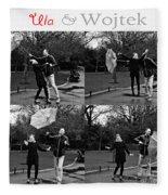 Ula And Wojtek Engagement 3 Fleece Blanket