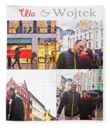 Ula And Wojtek Engagement 5 Fleece Blanket