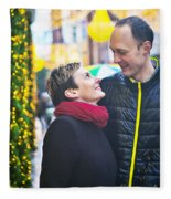 Ula And Wojtek Engagement 9  Fleece Blanket