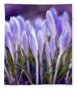 Ultra Violet Sound Fleece Blanket
