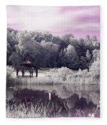 Ultraviolet Gazebo Fleece Blanket