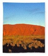Uluru Fleece Blanket