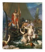 Ulysses And The Sirens Fleece Blanket