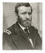 Ulysses S. Grant, 1822 To 1885. Union Fleece Blanket