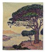 Umbrella Pines At Caroubiers Fleece Blanket