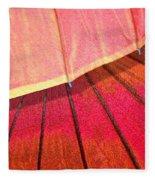 Umbrella Sunrise Fleece Blanket