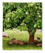 Umbrella Tree Fleece Blanket