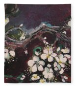 Ume Blossoms Fleece Blanket