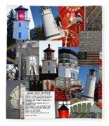 Umpqua River Lighthouse Collection Fleece Blanket