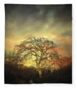 Un Dernier Crepuscule Fleece Blanket