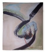 Unaccustomed Thought-abstract Art Fleece Blanket