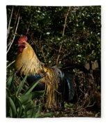 Uncle Rooster Fleece Blanket