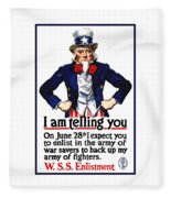 Uncle Sam -- I Am Telling You Fleece Blanket