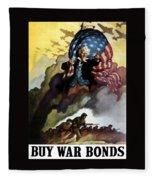 Uncle Sam - Buy War Bonds Fleece Blanket