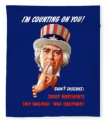 Uncle Sam - I'm Counting On You Fleece Blanket