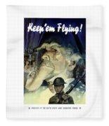Keep 'em Flying - Uncle Sam  Fleece Blanket