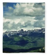 Uncompahgre Colorado Alpine Fleece Blanket
