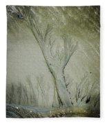 Under A Seashell Moon Fleece Blanket
