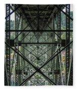 Under Deception Pass Bridge Fleece Blanket