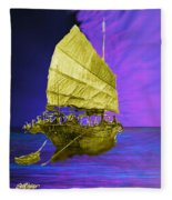 Under Golden Sails Fleece Blanket