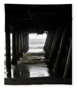 Under Santa Monica Pier Fleece Blanket