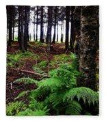 Under The Alaskan Trees Fleece Blanket