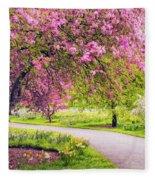 Under The Apple Tree Fleece Blanket