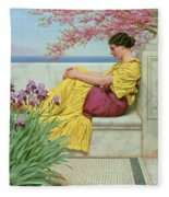 Under The Blossom That Hangs On The Bough Fleece Blanket