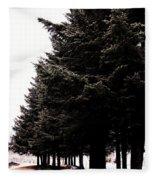 Under The Blue Spruce Fleece Blanket