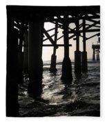 Under The Boardwalk Fleece Blanket