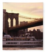 Under The Brooklyn Bridge  Fleece Blanket