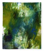 Under The Canopy- Abstract Art By Linda Woods Fleece Blanket