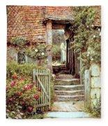Under The Old Malthouse Hambledon Surrey Fleece Blanket