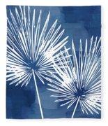 Under The Palms- Art By Linda Woods Fleece Blanket