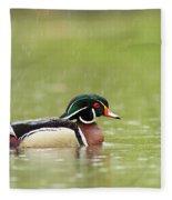 Under The Rain Fleece Blanket
