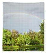 Under The Rainbow Fleece Blanket