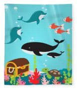 Under The Sea-jp2988 Fleece Blanket