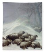 Under The Shelter Of The Shapeless Drift Fleece Blanket