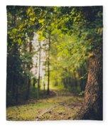 Under The Tree Fleece Blanket