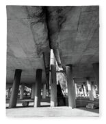Under The Viaduct A Urban View Fleece Blanket