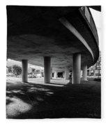 Under The Viaduct C Urban View Fleece Blanket