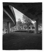 Under The Viaduct D Urban View Fleece Blanket