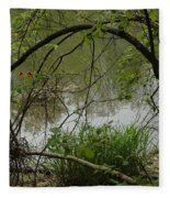 Under The Wild Wood Arch Fleece Blanket